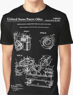 Camera Patent 1963 - Black Graphic T-Shirt
