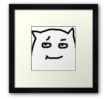 Face The Dude Framed Print