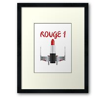 Get your lippy on! Framed Print