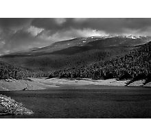 Snow on the mountains  Photographic Print