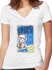 Chimp Plan: Cover Women's Fitted V-Neck T-Shirt
