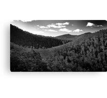 Looking down the valley Canvas Print