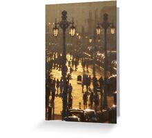 Brighton Evening Promenade Greeting Card