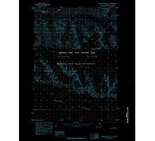 USGS TOPO Map Alaska AK Bering Glacier C-3 354385 1985 63360 Inverted Photographic Print