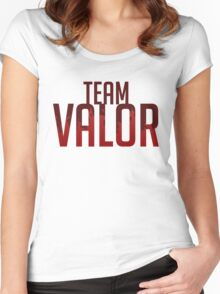 Team Valor GOgear!  Women's Fitted Scoop T-Shirt