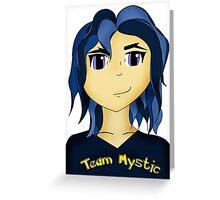 Kawaii Anime style girl in blue - Team Mystic Greeting Card