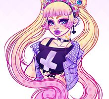 Pastel Goth Usagi (Glasses OFF) by Gunkiss