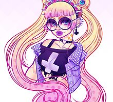 Pastel Goth Usagi (Glasses ON) by Gunkiss