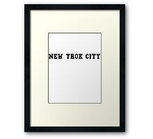 NEW YORK CITY - souvenir tshirt Framed Print