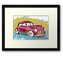 Old Red Plymouth Sketch Framed Print