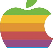 Classic Apple Computer Logo by Pixel Glitch