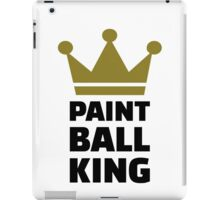 Paintball king crown iPad Case/Skin