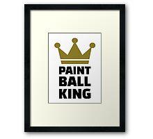 Paintball king crown Framed Print