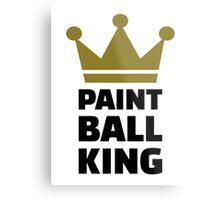 Paintball king crown Metal Print