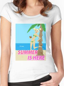 Summer is here design Women's Fitted Scoop T-Shirt