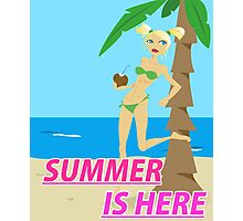 Summer is here design Photographic Print