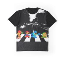 Nintendo 8bit Sprites on Abbey Road  Graphic T-Shirt
