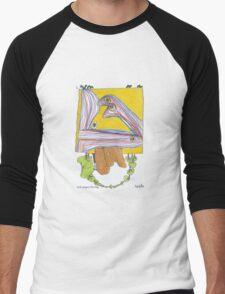 Sock puppet starship  Men's Baseball ¾ T-Shirt