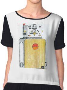 Old Fashion Radiobot Chiffon Top