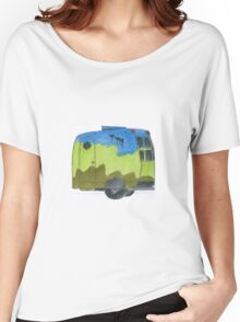 Emu Dreaming Over Cosy Caravan Landscape    Women's Relaxed Fit T-Shirt
