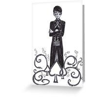 Spade King Greeting Card