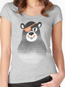 Pirate Bear Women's Fitted Scoop T-Shirt