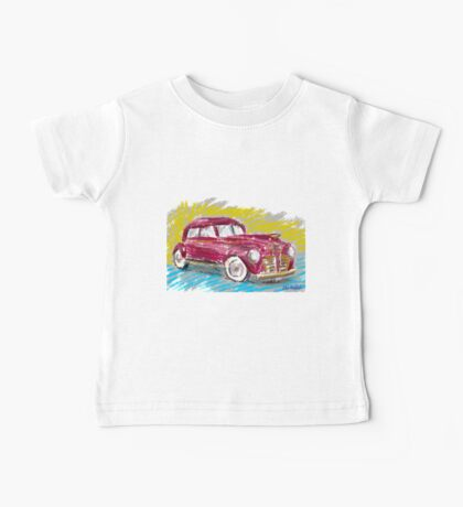 Old Red Plymouth Sketch Baby Tee