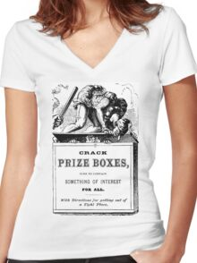 Crack Prize Boxes Women's Fitted V-Neck T-Shirt
