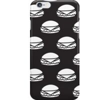 Black and White Burger Pattern Outline iPhone Case/Skin