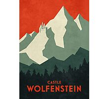 Castle Wolfenstein Vintage Tourism (Plain Red) Photographic Print