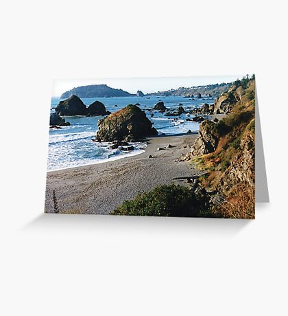 Luffenholtz Beach Near Trinidad, CA Greeting Card