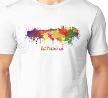 Istanbul skyline in watercolor Unisex T-Shirt