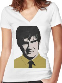 Bo Burnham Pop Art Women's Fitted V-Neck T-Shirt