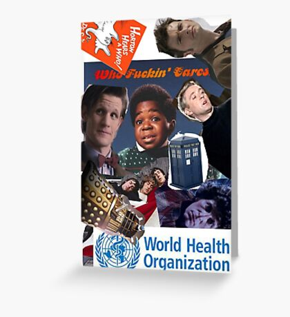 Doctor Who Times Infinity Greeting Card