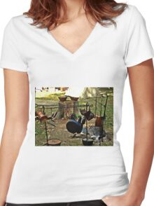 Cast Iron and Copper Women's Fitted V-Neck T-Shirt