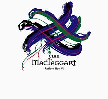 Clan MacTaggart - Prefer your gift on Black/White, let us know at info@tangledtartan.com Unisex T-Shirt