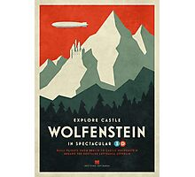 Castle Wolfenstein Vintage Tourism (Border 3D Red) Photographic Print