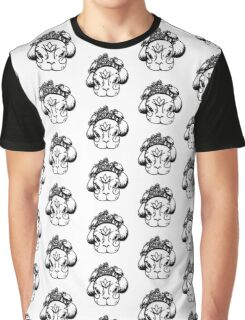 Alma de Kahlo b&w Graphic T-Shirt