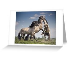 Dancing Horses Greeting Card