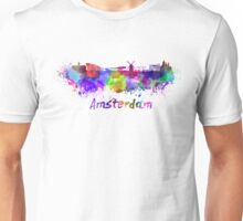 Amsterdam skyline in watercolor Unisex T-Shirt