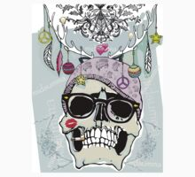 Hipster skull mashup with Steampunk cliches One Piece - Short Sleeve