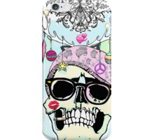 Hipster skull mashup with Steampunk cliches iPhone Case/Skin