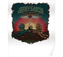 Jerry Garcia playing in a roses field Poster