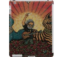 Jerry Garcia playing in a roses field iPad Case/Skin