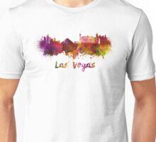 Las Vegas skyline in watercolor Unisex T-Shirt