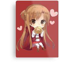 Asuna eating bread Metal Print