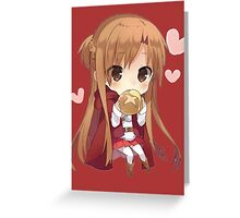 Asuna eating bread Greeting Card