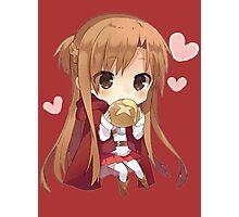 Asuna eating bread Photographic Print