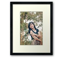 portrait of a beautiful asian woman smiling brightly Framed Print