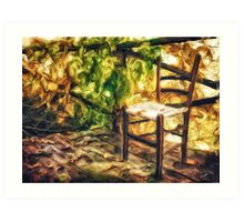 The old chair Art Print